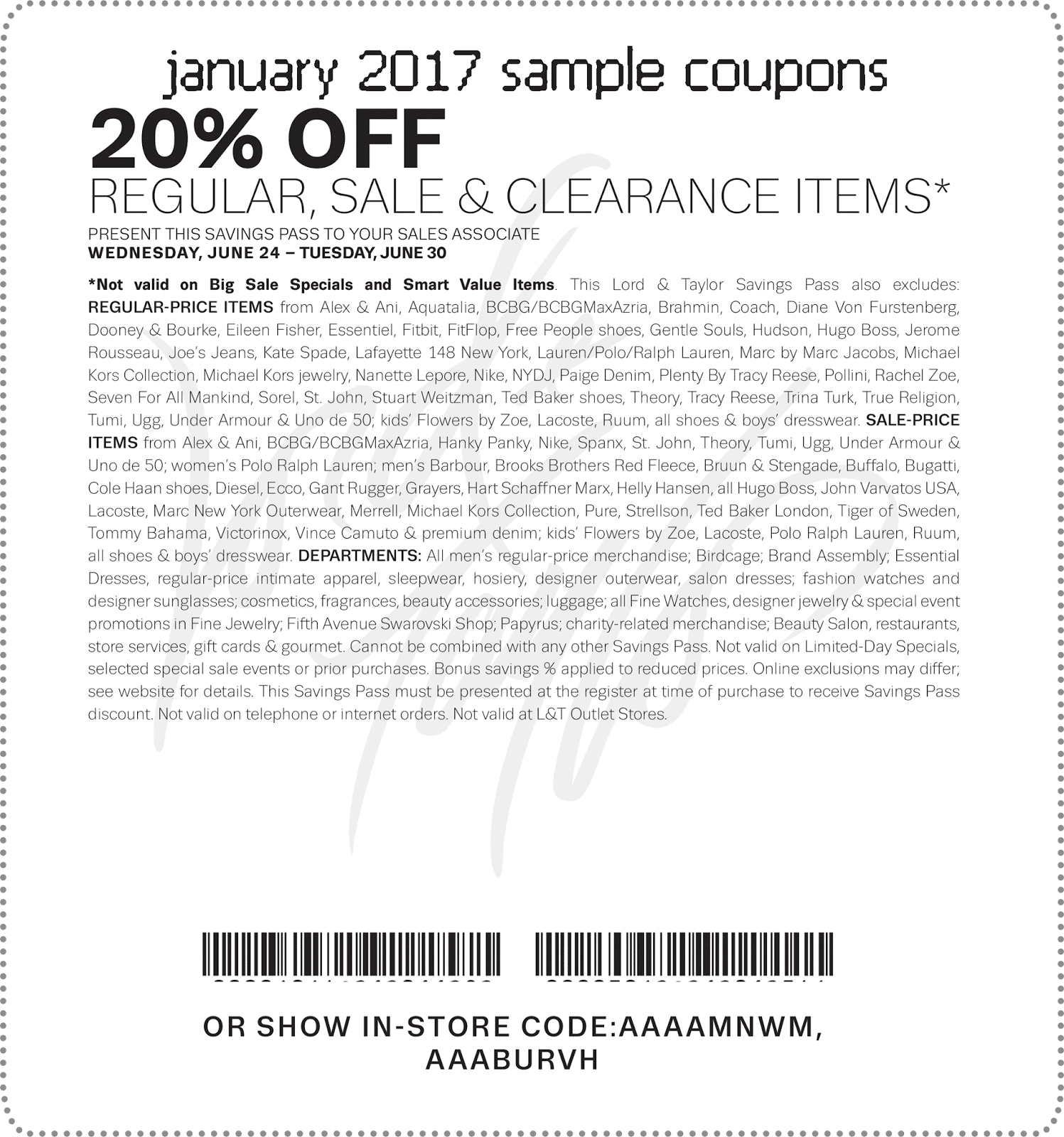 Lord And Taylor Coupons From designer clothes, boots, shoes, handbags, jewelry to beauty supplies for men, women and kids, you can find everything here at Lord And Taylor. This online store often runs a promotion that offers customers up to 25% Off and more.