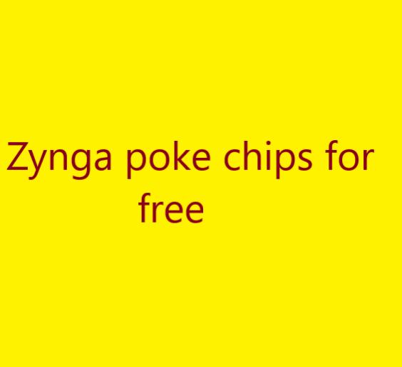 zynga poker chips for free