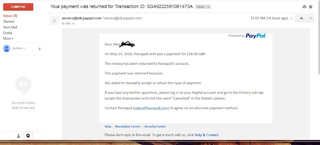 This is a sample of my transaction with one of my verified PayPal account that can send and receive funds