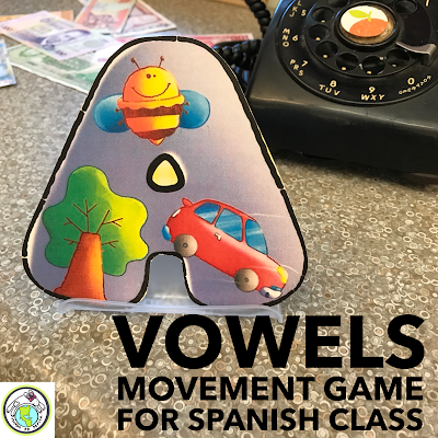 Vowels Movement Game for Spanish Class