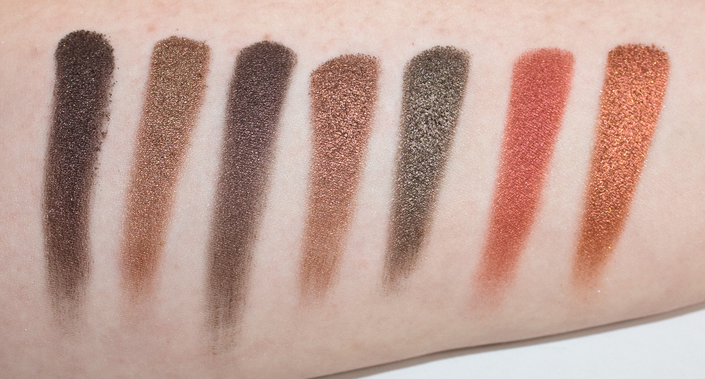 Morphe Os  Color Shimmer Nature Glow Eyeshadow Palette Swatches