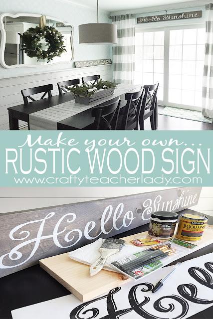 Crafty Teacher Lady: DIY Rustic Wood Sign Tutorial