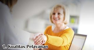Kualitas Pelayanan merupakan salah satu faktor yang mempengaruhi kepuasan pelanggan