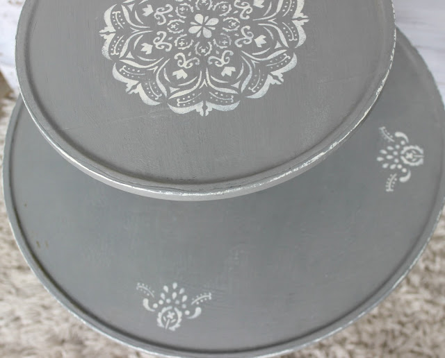 Thrift Shop Table Makeover w/ Rustoleum Chalked Paint in Country Gray organizedclutter.net