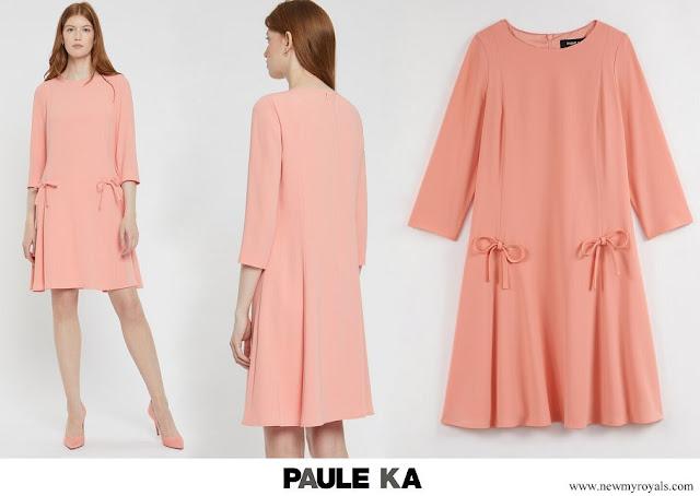 Princess Stephanie Paule Ka satin crepe dress