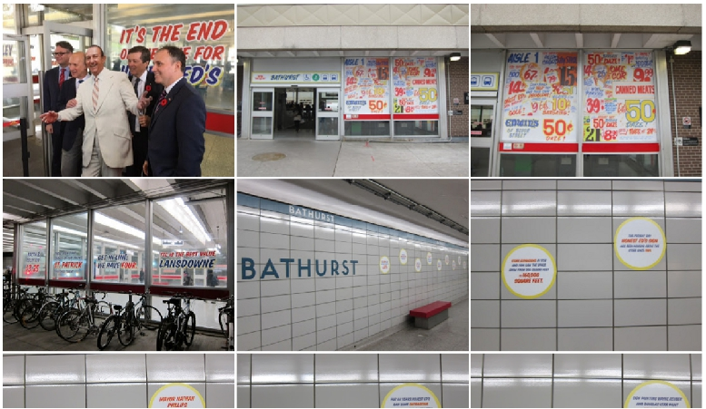 Bathurst station with Honest Ed signage