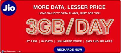 jio rs999 prepaid plan benefits