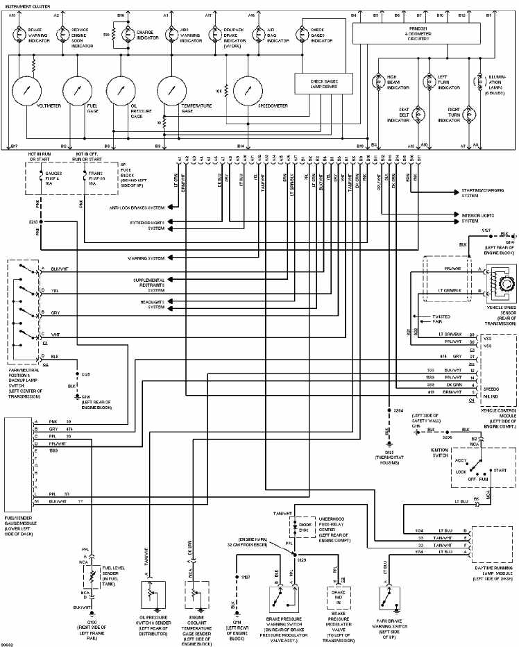 chevrolet astro 1997 instrument cluster wiring diagram ... cicuit diagram electrical wiring in us ring diagram electrical wiring 99 chevy astro #9