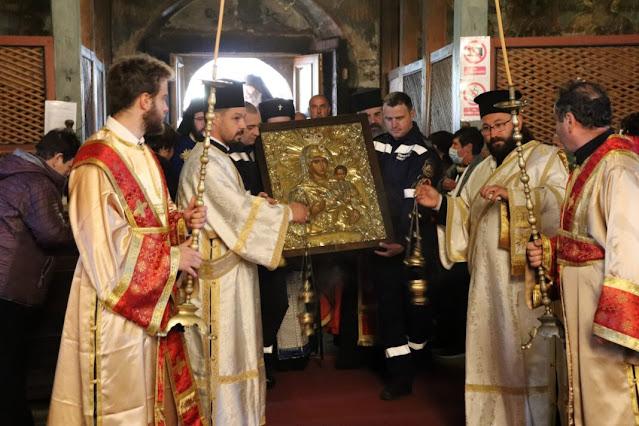 В Банско посрещнаха копие на чудотворната икона на Пресвета Богородица Акатистна