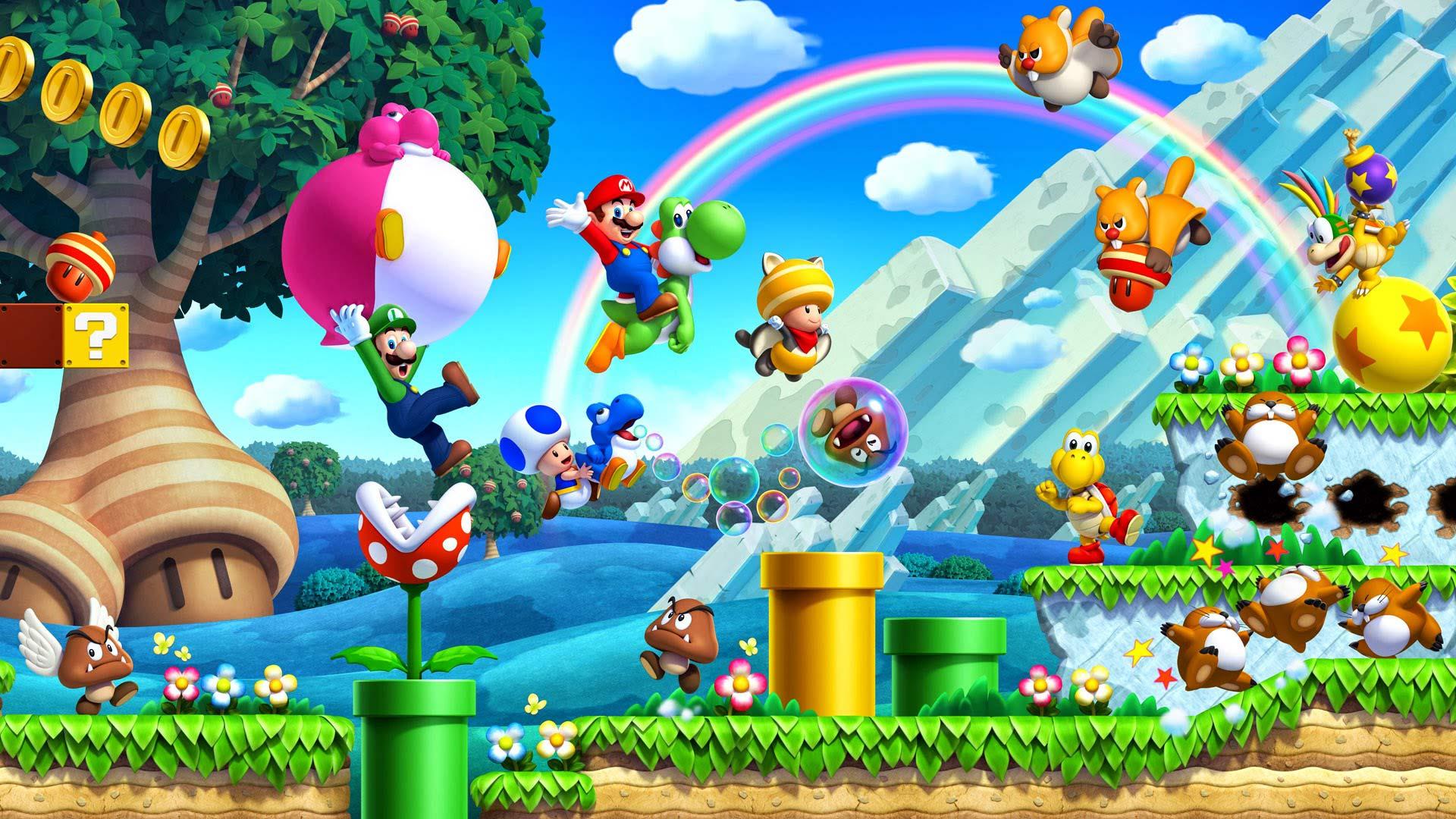 Papel De Parede Video Game Super Mario Bros U