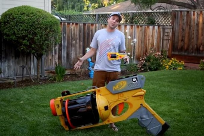 Khẩu súng Nerf tự chế to nhất thế giới