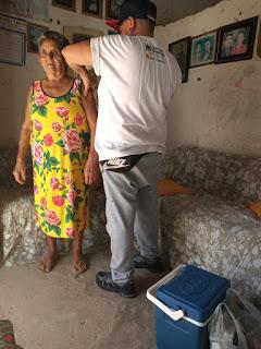 Em Baraúna, idosos e profissionais da saúde são vacinados contra Influenza
