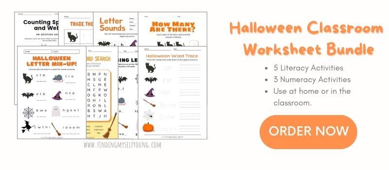 halloween literacy and numeracy classroom activity bundle