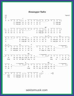 not angka sinanggar tullo lagu daerah sumatera utara
