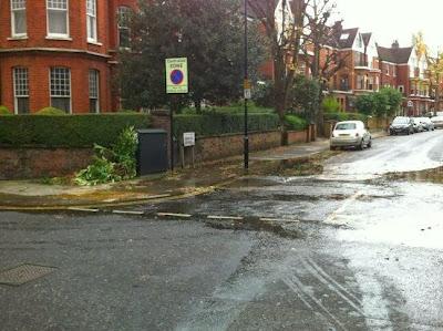 West Hampstead Life Fountain Floods Fairhazel Gardens