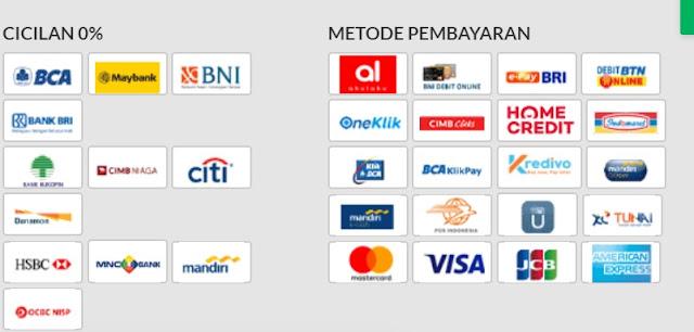 Gambar pilihan Metode pembayaran di Blibli