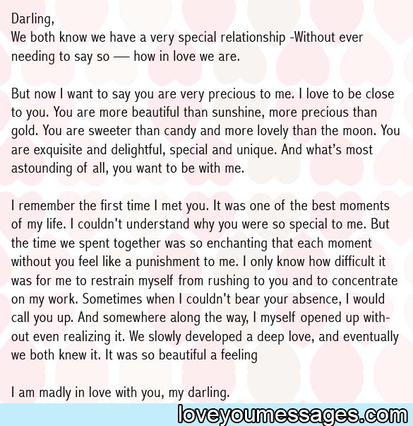 love letter to girlfriend