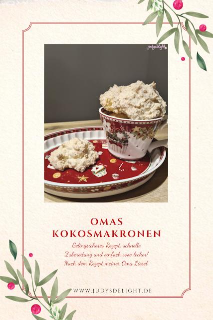 Omas Kokosmakronen für die Vorweihnachtzeit