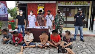 6 Orang diduga Pengedar Narkoba Berhasil di Amankan Unit Intelkam Polres Wajo.