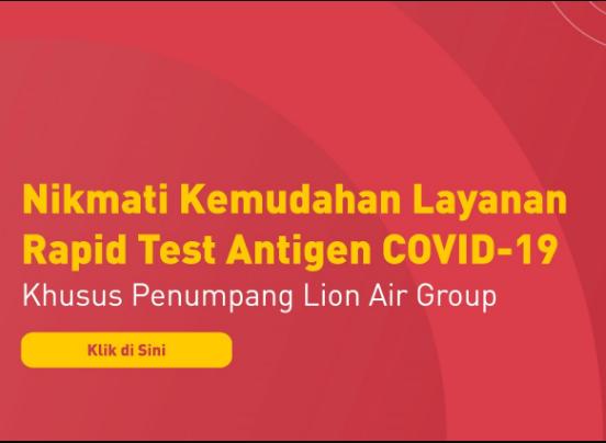 Lokasi Rapid Test Antigen Lion Air Group