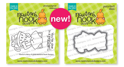 Newton's Melon | Cat and Watermelon Stamp Set by Newton's Nook Designs #newtonsnook
