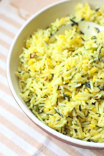 lentilles mung dal riz