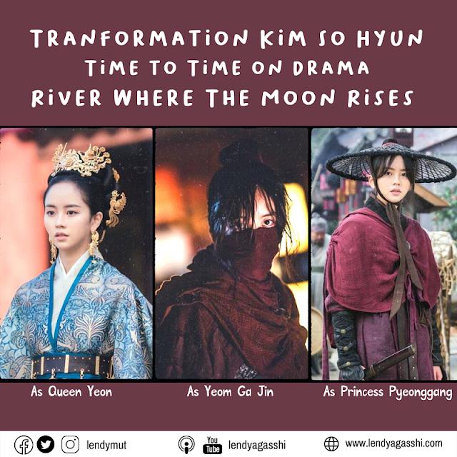 Transformation Kim So Hyun time to time on drama River Where the Moon Rises
