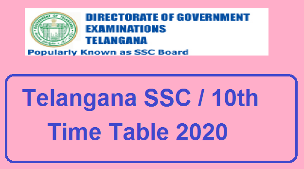 Manabadi TS SSC Time Table 2020 Download