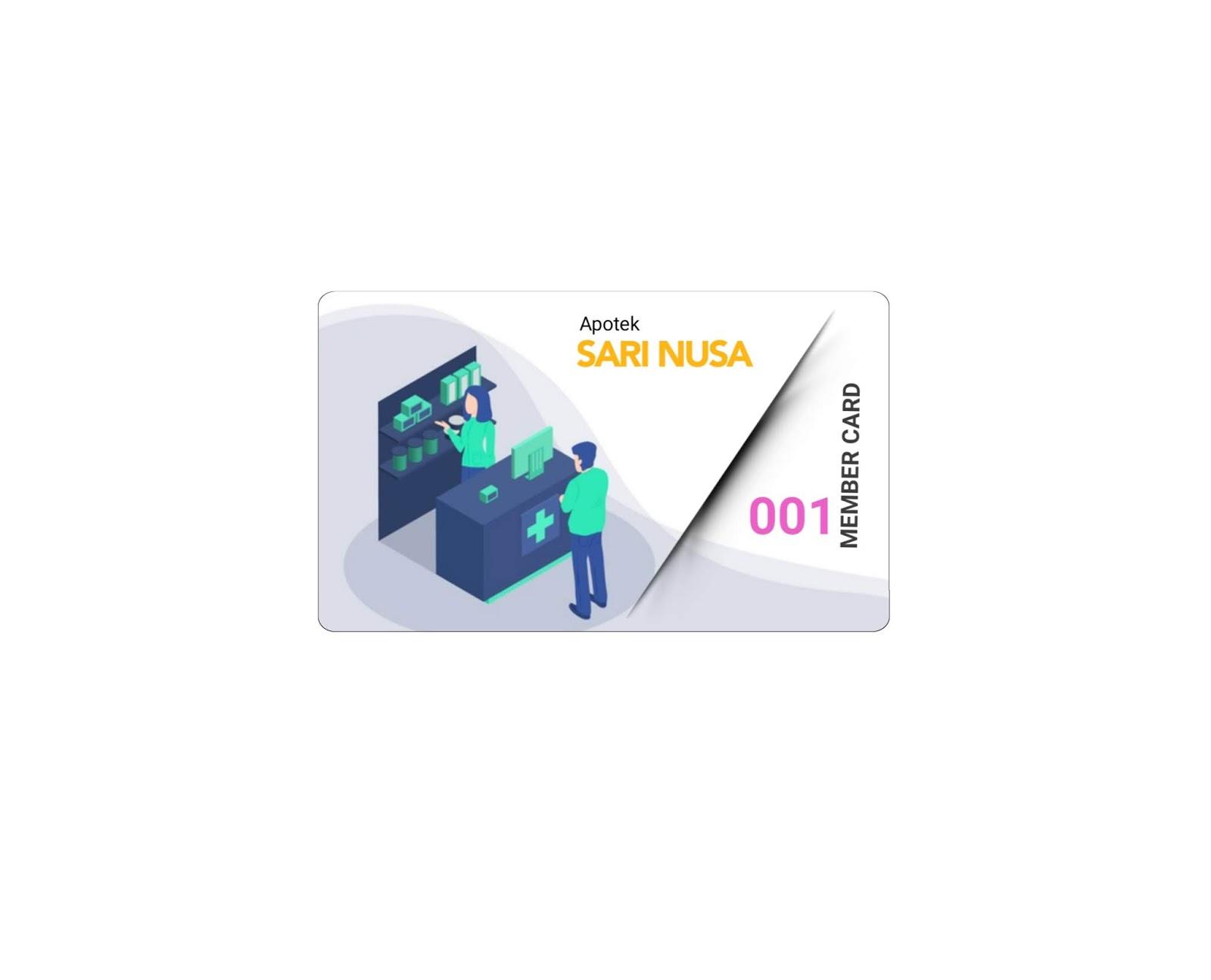 Cetak kartu member apotek