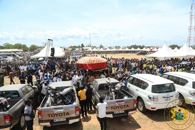 President Akufo-Addo Presents Vehicles To Oti Regional Co-Ordinating Council