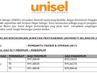 Jawatan Kosong di Universiti Selangor UNISEL