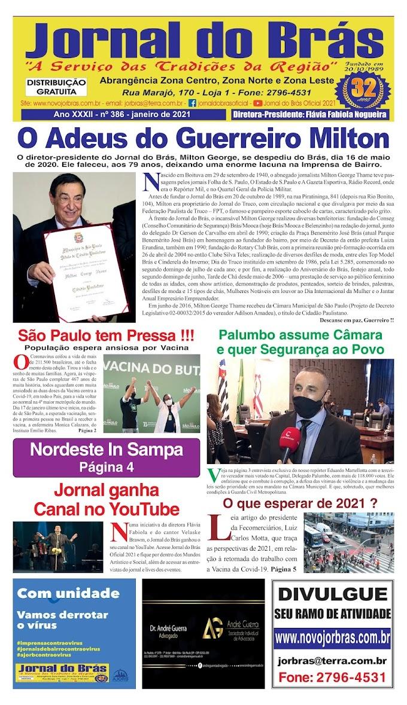 Destaques da Ed. 386 - Jornal do Brás