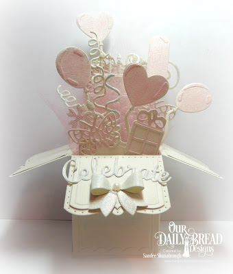 Our Daily Bread Designs Custom Dies: Surprise Box, Bitty Butterflies, Mini Bow, Balloons & Streamers, Bitty Borders, Cakes & Candle, Celebrate & Wish, Bitty Blossoms, Fancy Foliage