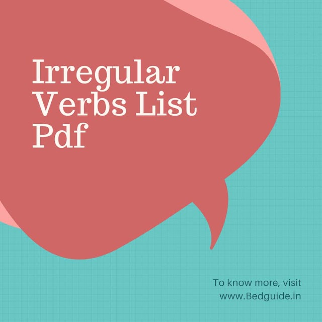 700 + Irregular Verbs List PDF For Competitive Examination