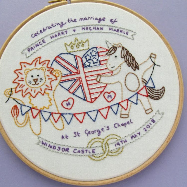 Royal Wedding Embroidery Pattern - Harry & Meghan