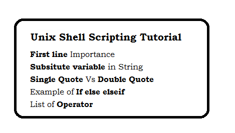 Unix Shell Scripting Tutorial - page 7