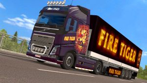 Fire Tiger skin and trailer for Volvo 2012