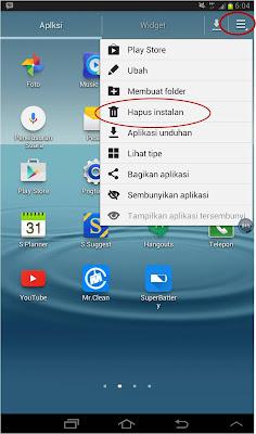 Cara Mudah Menghapus Aplikasi Android di Samsung Galaxy Tab 2