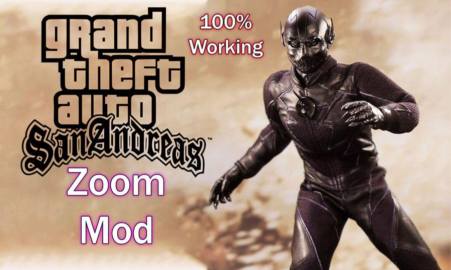 GTA San Andreas Zoom Mod Black Flash Download PC