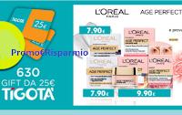 Logo Concorso ''Missione Anti età'' e con L'Oreal vinci 630 Gift card Tigotà da 25€