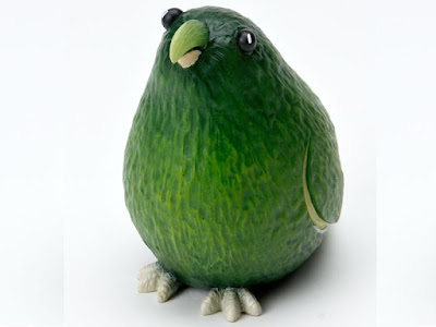 avocado bird fruit arts