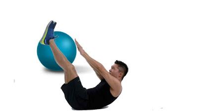 حركة البطن مع الكرة
