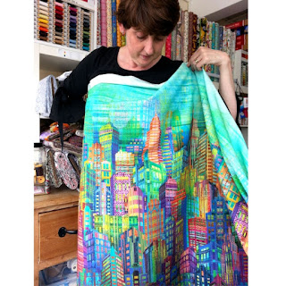 Skyline fabric would make a bright, wonderful dress, get it at More Sewing