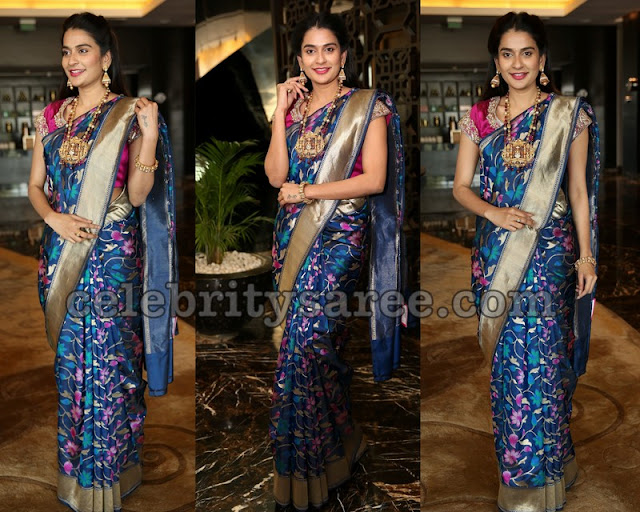 Jenny Honey Floral Silk Saree