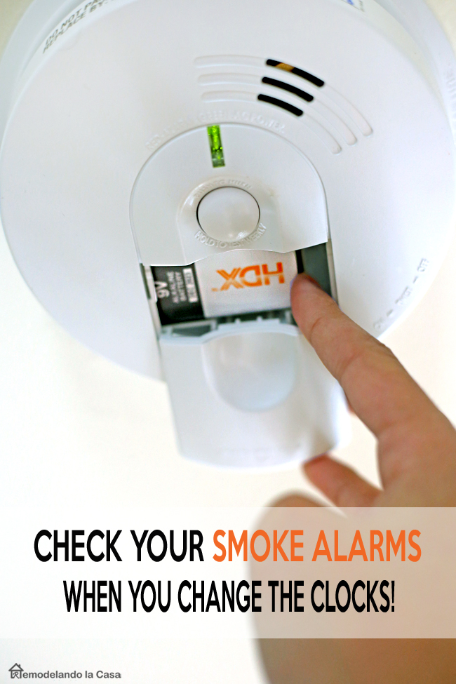 how to replace a smoke detector and replace the 9V HDX battery