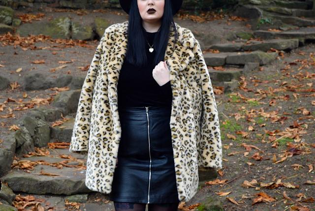Leopard Print coat blogger