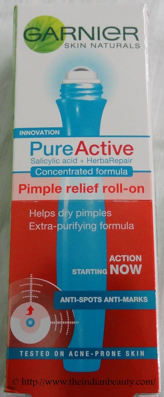 Garnier Pure Active Pimple Relief Roll On Review And Comparison With Extra Strong Control Pen
