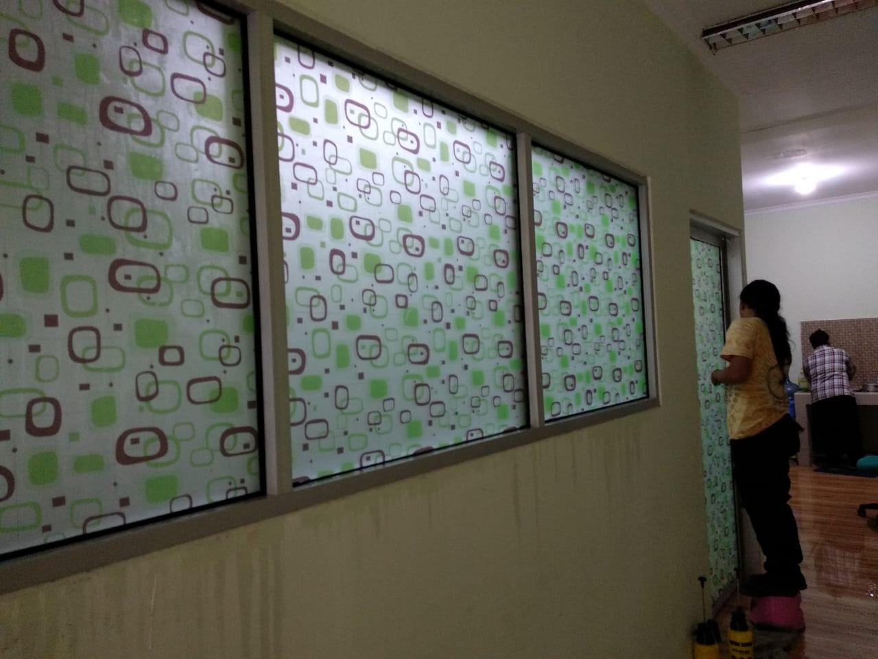 Wallpaper Kantor Wallpaper Kaca Film Sticker Motif