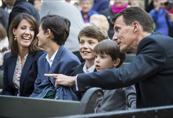 Crown Princess Mary ,Prince Christian and Princess Isabella