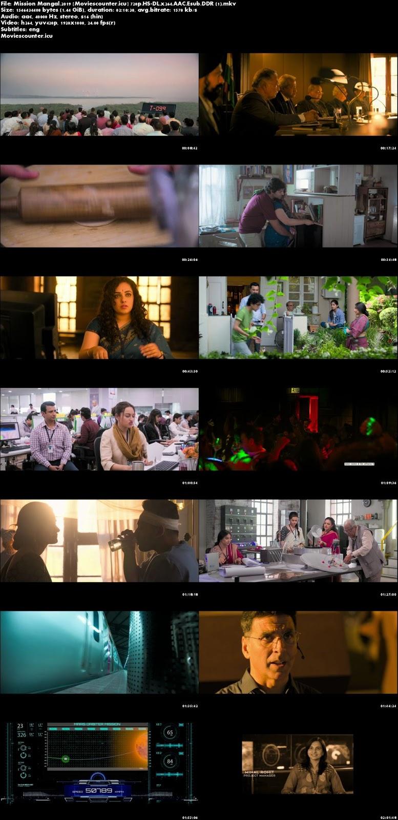 Screen Shots Mission Mangal 2019 Hindi HD 720p